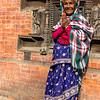 Prayer lady in Durbar Square