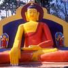Statue of The Lord Buddha, Swayambunath Stupa, Kathmandu, Nepal