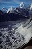 Pumori, Highest Peak in Background, Nuptse Glacier, Himalayan Mountains, Khumbu Region, Nepal, Asia, Photo taken from Chukung Ri