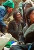Tading at Namche Market. Tibetian traders that bring goods for trade to market at Namche Bazar, Kumbu, Nepal
