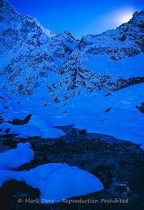 Frozen stream, Khumbu region, Nepal