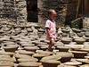 Daugther of craftsman in Bhacktapur who walk in delicate lands