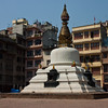 Stupa in courtyard