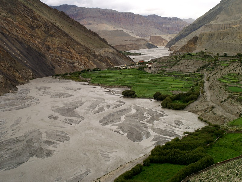 Kagbeni settle in the shore of Kali Gandaki river, The door to the Mustang Kingdom