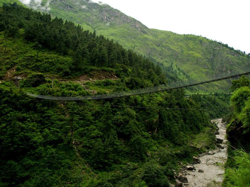 Another suspension bridge in the Annapurnas trek