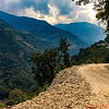 Narrow road to get to Ghandruk.  Once there you have to walk up the mountain to reach the various Inns