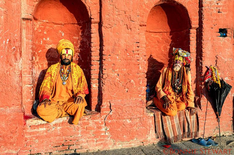 Holy Men at the Pashupatinath Temple in Kathmandu