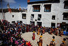 Crowd watching Tiji Festival, Lo Manthang