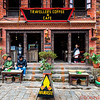 Cafe in the Durbar Square in Bhaktapur