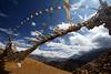 Prayer flags at Lambda Pass, Upper Mustang