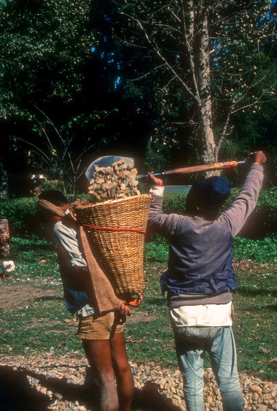 Everything is transported in the Kumbu by porters in baskets.