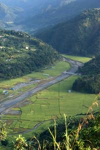 Valley Below Lamjung Himal Near Pokhara