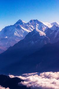 Himalaya View through Airplane Glass