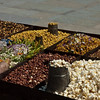 Street vendor and Masala peanut fixings with popcorn