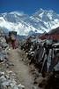 Sherpa carrying a load, Trekking, Khumbu Region, Himalayan Mountains, Nepal, Asia