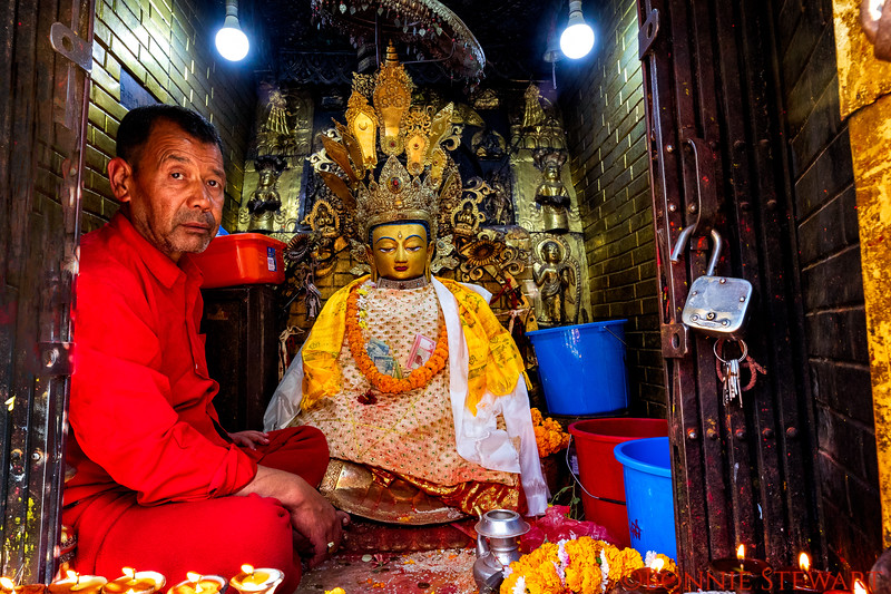 Prayer Station at the Monkey Temple in Kathmandu