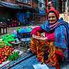Local vendor in the Kathmandu market in Durbar Square