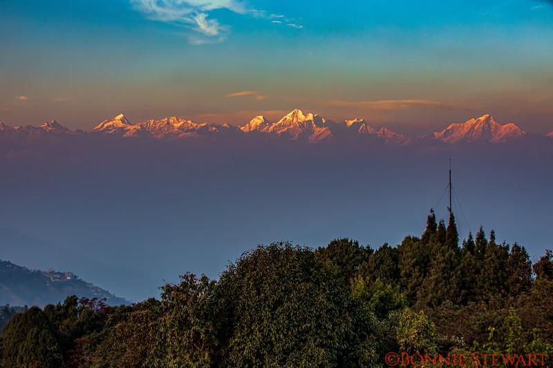 Nagarkot, Nepal view at Sunset at 7,100 feet