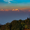 Nagarkot, Nepal view at Sunset at 7,100 feet