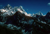 Sargamantha, 8848.mtrs  Lohotse, 8501 mtrs,  Lohotse Shar 8383 mtrs and Makalu. 8475 mtrs. Kumbu, Nepal