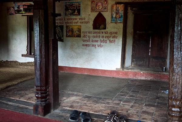 Inside the pilgrims house