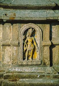 Temple detail, Kathmandu, Nepal