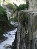 Narrow pass in annapurnas trekking, near Pisang