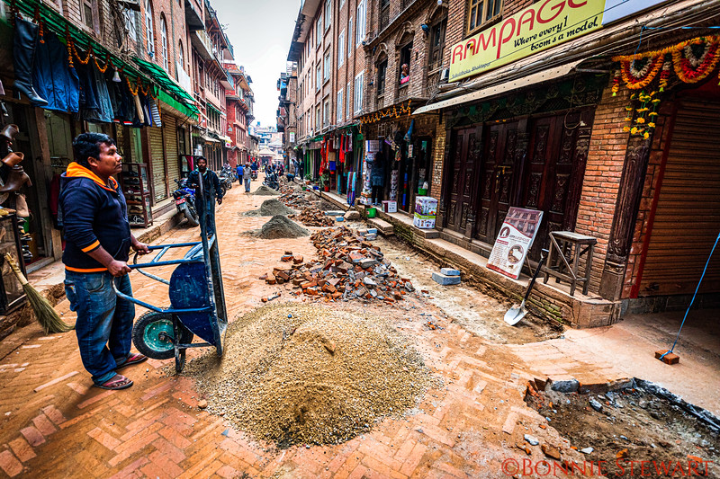 Bhaktapur reconstruction efforts from the 2015 earthquake