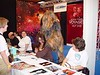 """Marina getting annoyed at a Wookie.  """"Screenheroes"""" Con in Utrecht, Netherlands Sept 25,2005"""