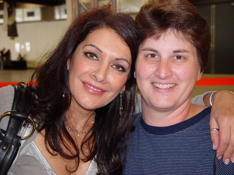 """Me and Marina at the """"Screenheroes"""" Con in Utrecht, Netherlands Sept 24, 2005"""