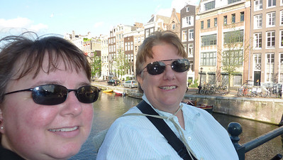 Self-portrait on one of the canals. Herengracht I think.