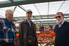 Keukenhof: Willem-Alexander Pavilion: Cees, Peter and Hibbe with Tulipa 'Leen van der Mark'