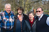 Keukenhof: Cees, Kate, Janet and Hibbe