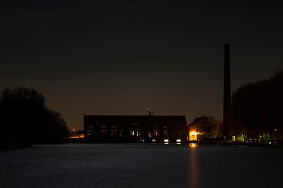 Night Shot of Woudegemaal in Lemmer