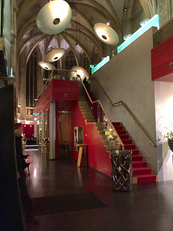 This is one of the best uses every for an old church!  An amazing restaurant and hotel embedded into the old structure of the church.