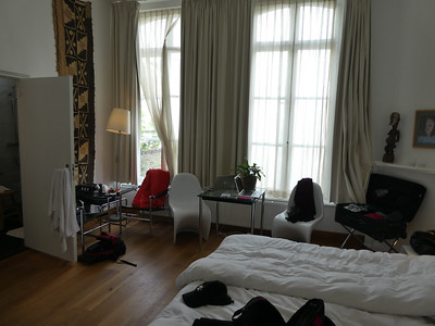 Our room on the Dis Hotel in Maastricht.  Each room contains art work and modern furnishings.