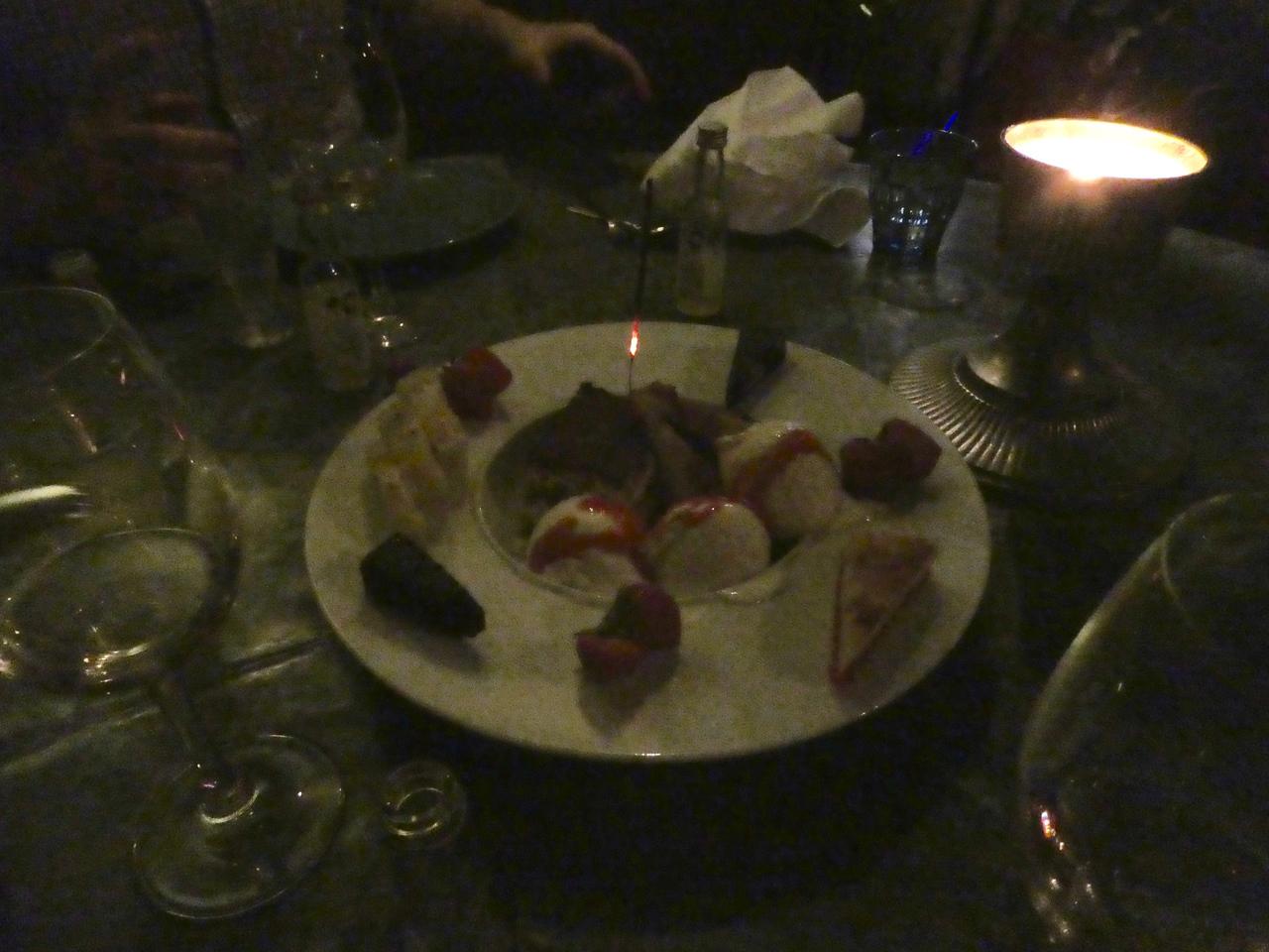 Birthday desert for Annette at Past e Basta