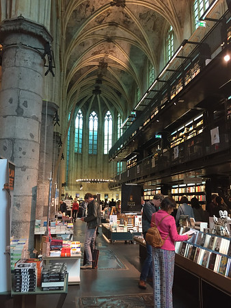 Bookstore Dominicanen, a bookstore in an old chutch in Maastricht.  The Dutch are amazing at finding useful things to do with old churches!