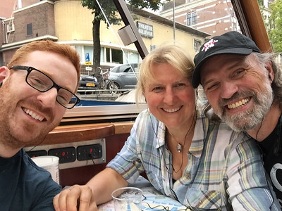 Our canal boat tour in Amsterdam