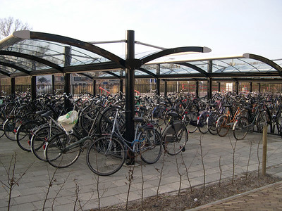 Bike parking at the Sneek train station