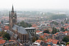 View from top of the Nieuwe Kerk (New Church) looking at the Oude Kerk (Old Church) in Delft