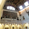 A glimpse of some of the tapestries and statuary in the galleries above the great hall, or whatever it is.