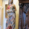 Apologies for the poor picture.  You can glimpse this figure in the background of the previous two pictures.  It's one of the few actual medieval objects in the castle, and very rare.  It depicts the Virgin Mary breastfeeding the Infant Jesus, something that was seldom shown in artwork.