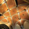 The ceiling in the entrance hall.