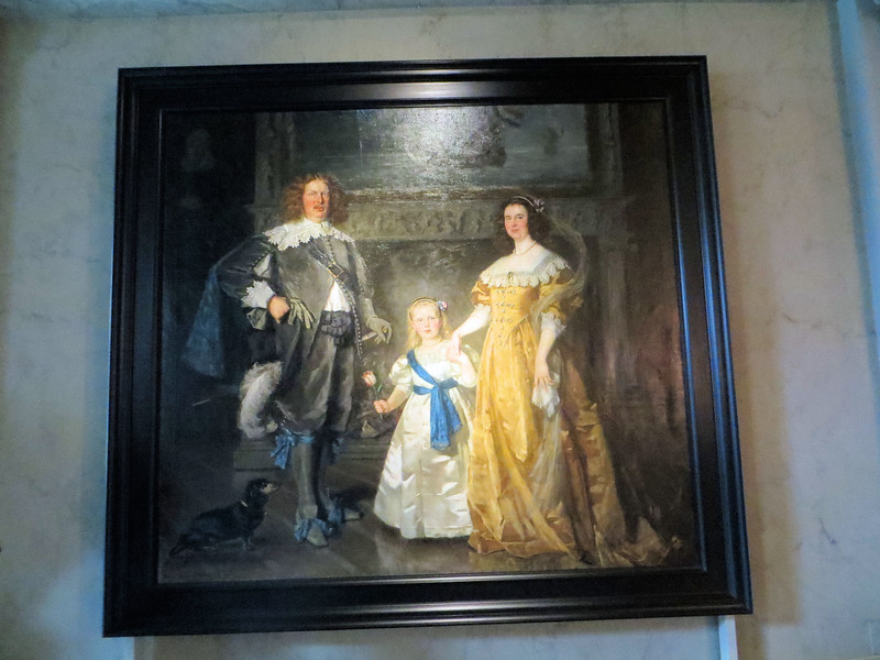 """A painting made in 1914, depicting Queen Wilhelmina, Prince Hendrik and Princess Juliana in 17th-century style dress.  I wonder, when they saw the final result, if they looked around and said, """"Whose idea was this?  You're fired!"""""""