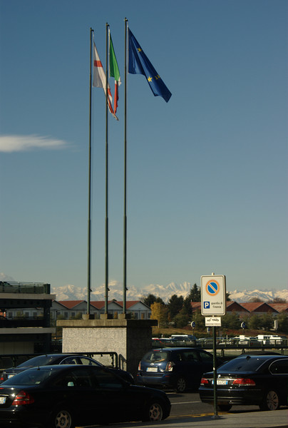 Just outside Malpensa, the airport in Milan, Italy.