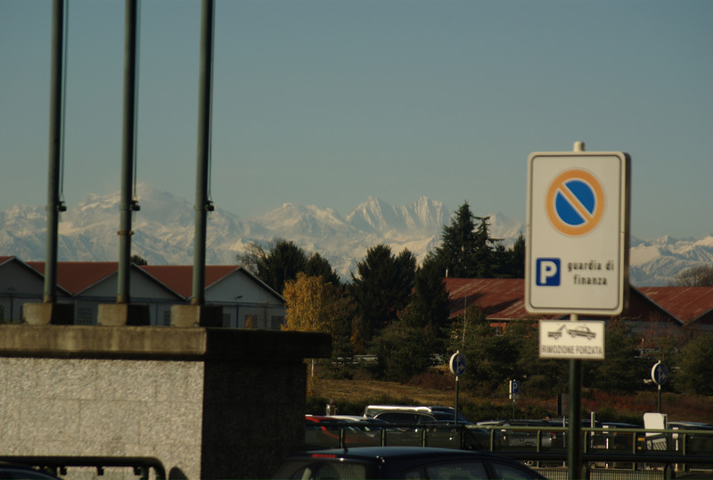 Picture of the snow covered Alps, from the Malpensa airport in Milan, Italy.