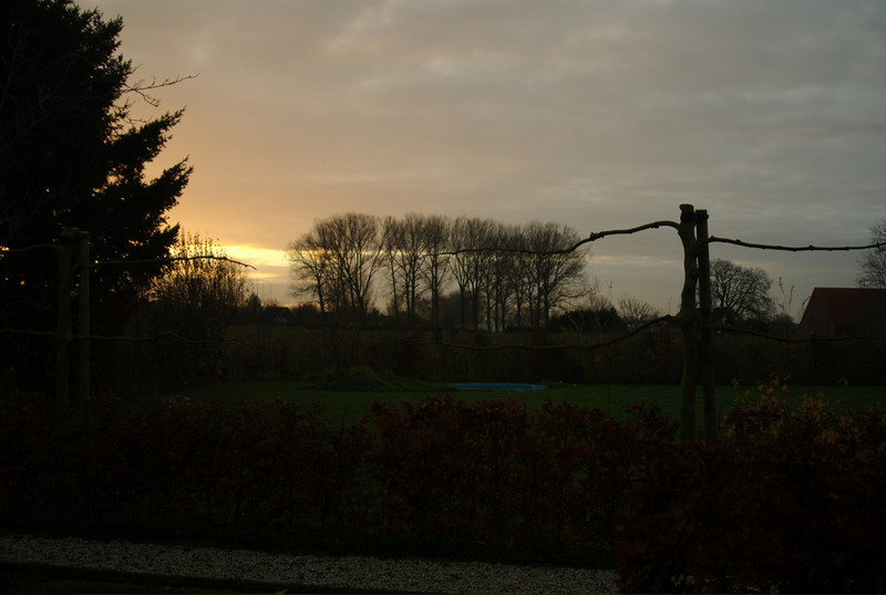 Daybreaks on our first day in the Netherlands.