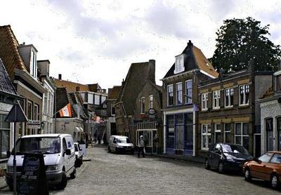 Strange street scene in Hoorn.