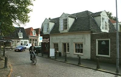Bike rider in Hoorn.